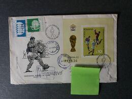 ROUMANIE ROMANA 1982  FDC WORLD CUP  FOOTBALL SOCCER FUSSBALL CALCIO FOOT - Unclassified