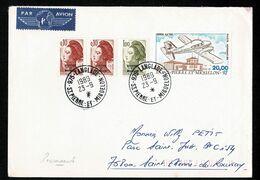 SAINT PIERRE MIQUELON Piper Aztec + Marianne Pour 21,20F Au Tarif Recommandé Lettre Voyagé Simple LANGLADE 1989 23-9 TTB - St.Pierre & Miquelon