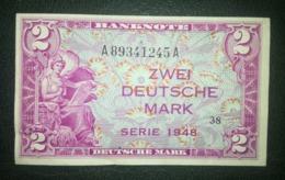 Banknote. Zwei Deutsche Mark. Serie 1948 AA - [ 5] 1945-1949 : Allies Occupation