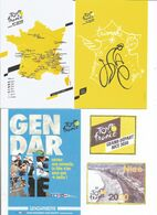 Cartes Du Tour De France 2020 107 ème édition Avec 3 Modèles Dont Gendarmerie Et Vignettes Du Départ De Nice Du 29 08 Au - Ciclismo