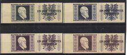# E.12475 Austria 1946 Full Set, Stamps From Klb.! MLH, Michel 772B - 775B: President Karl Renner - 1945-.... 2a Repubblica