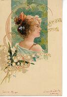 ART NOUVEAU Femme Illustrateur H W 1901     ....G - Other