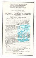 DP Louis Verschraegen ° Doorslaar Eksaarde Lokeren 1871 † Haasdonk Beveren Waas 1961 X Felix Van Meirvenne - Devotion Images