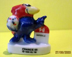Fève Brillante - Footix - France 98 - Borne Marseille - 1995 - Sports