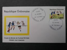 GABON GABONAISE 1990 FDC WORLD CUP NON EMIS  500 F RARE   FOOTBALL SOCCER FUSSBALL CALCIO FOOT SPORT - Non Classificati