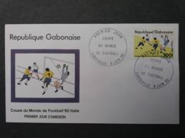 GABON GABONAISE 1990 FDC WORLD CUP NON EMIS  300 F RARE   FOOTBALL SOCCER FUSSBALL CALCIO FOOT SPORT - Non Classificati