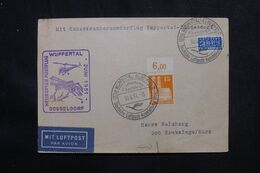 ALLEMAGNE - Enveloppe Par Hélicoptère Wuppertal / Düsseldorf En 1951  - L 70518 - Cartas