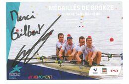 AVIRON - Quatre Sans Barreur - BENOIT BRUNET....Signature...Autographe Véritable.... - Handtekening