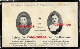 Oorlog Guerre Van De Kerchove De Clercq Zingem Gesneuveld Bombardement Te Welden 1918 Oudenaarde - Andachtsbilder