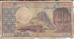 BILLETE DE CAMERUN DE 1000 FRANCS DEL AÑO 1978 (BANKNOTE) - Cameroon