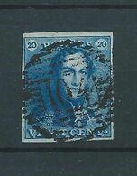 N° 2 OBLITERE P104 ST HUBERT - 1849 Epauletten