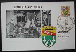 Neufchateau 1960 Jumelage Vosges Guelma, Carte Postale Philatélique - Marcofilie (Brieven)