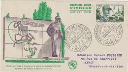 FDC FRANCE N° Yvert 984 (LECLERC) Obl Sp Ill 1er Jour (Devant D'enveloppe) - 1950-1959