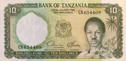 Tanzania 10 Shilingi, P-2d (1966) - Extremely Fine - Tanzania