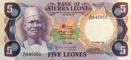 Sierra Leone 5 Leones, P-7g (4.8.1985) - UNC - Sierra Leone