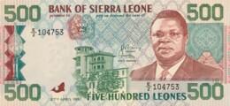 Sierra Leone 500 Leones, P-19 (27.4.1991) - UNC - Sierra Leone