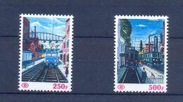Nrs. TR459/TR460 Postgaaf ** MNH Prachtig Met Plaatnr. 50 Côte - Railway