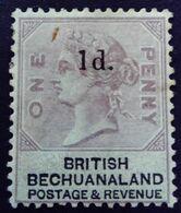 Bechuanaland 1888 Victoria Overprinted 1d. Yvert 24 * MH - 1885-1895 Kronenkolonie