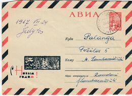 Lithuania Local Cover From Raudone To Palanga 1967 #25001 - Lituania