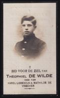 GEVALLEN ROOZENDAEL GESTORVEN DUINKERKEN 23 OKT 1914 - THEOPHIEL DE WILDE   DESTELBERGEN 1897   2 SCANS - Engagement