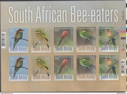 SOUTH AFRICA, 2017, MNH, BIRDS, BEE-EATERS , SHEETLET OF 2 SETS - Andere