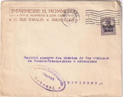 Envelope Imprimerie H. Mommens, Bruxelles - German Occupation - Geprüft - Zonder Classificatie