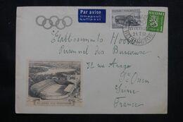 FINLANDE - Enveloppe Illustrée + Oblitération Des Jeux Olympiques De Helsinki En 1952 Pour La France - L 70568 - Cartas