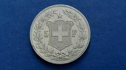 Argent  5 Francs Suisse 1889 B - Svizzera
