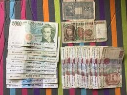 ITALIE Joli Lot De Billets Ayant Circulé 6 Ou 7 Billets Marqués Au Stylo - Andere
