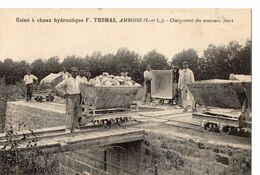 Usine à Chaux Hydraulique F.THOMAS, AMBOISE (I.-et-L.) - Chargement Des Nouveaux Fours - Amboise
