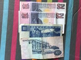 SINGAPOUR Lot De 4 Billets Ayant Circulé - Singapore