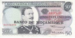 BILLETE DE MOZAMBIQUE DE 50 ESCUDOS DEL AÑO 1970   (BANK NOTE) - Mozambique