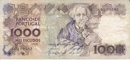 BILLETE DE PORTUGAL DE 1000 ESCUDOS  DEL AÑO 1987 SERIE ARQ (BANKNOTE-BANK NOTE) - Portugal