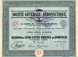 ACTION -    Stè GENERALE  AERONAUTIQUE - Aviazione