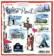 """Bloc-feuillet Oblitéré F4514- Bloc Feuillet """"Capitales Européennes - Paris"""" - 2010  Arc De Triomphe Opéra Tour Eiffel - Afgestempeld"""
