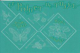2017 France Tulle Needlework Sewing  Souvenir Sheet  MNH @ BELOW FACE VALUE - Frankrijk
