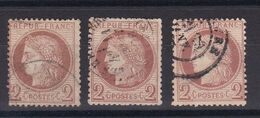 D198 / LOT CERES N° 51 OBL COTE 45€ / 3 TIMBRES - 1871-1875 Cérès