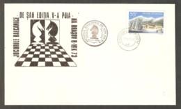 Romania 1973 Brasov - Chess BLACK Cancel On BLACK Commemorative Envelope - Scacchi
