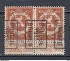 2205 Voorafstempeling Op Nr 109 In Paar - BRUGGE 1913 BRUGES -  Positie B - Precancels