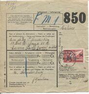 REF1733/ TR210 S/bordereau C.F. Colis Du Soldat C.Elsenborn 26/4/40 > Militaire à Malines (Mechelen) - 1923-1941