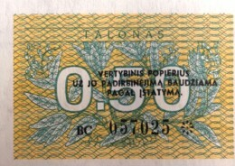 Lithuania 0.50 Talonas, P-31b (1991) - UNC - Lithuania