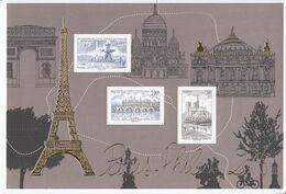 2016 France Paris Philex Stamps On Stamps Souvenir Sheet  MNH @ BELOW FACE VALUE **small Bang Bottom Right ** - Frankrijk