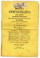 CG35 - Rivista Amm.va Del Regno - Ann. Di Torino 16/5/1862 Su Striscia Di 3 Cent. 2 Per Stampati - Certificato Raybaudi - Sardinië