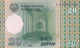 Tadjikistan 20 Dirham, P-12 (1999) - UNC - Tadzjikistan