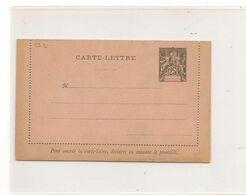 1896 SAGE 25c.. SUR CARTE LETTRE VIERGE - Briefe U. Dokumente