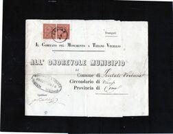 CG35 - Frontespizio Con Annullo Di Cadore 1863? Per Lentate Verbano - Storia Postale
