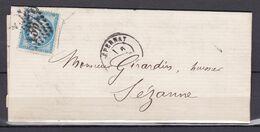 D200 / LOT CERES N° 60 SUR LETTRE / VARIETE FILET DROIT - 1871-1875 Cérès