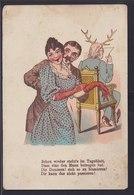 Ansichtskarte Scherzkarte Paar Und Gehörnter Betrogener Ehemann  - Künstlerkarten
