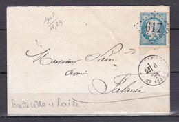 D200 / LOT CERES N° 60 SUR LETTRE / VARIETE FILET BAS - 1871-1875 Cérès