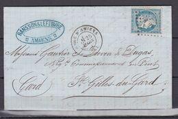 D200 / LOT CERES N° 60 SUR LETTRE / VARIETE NC DE FRANC - 1871-1875 Cérès